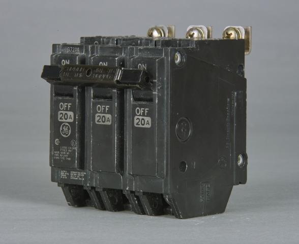 GE Industrial Solutions THHQB32045 3-Pole 240 Volt 22 kaic 45 Amp Circuit Breaker