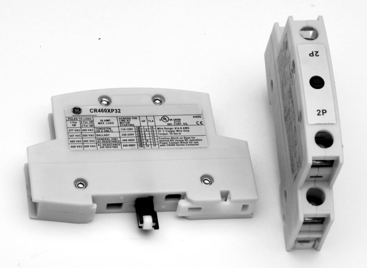 GE Industrial Solutions 460XP32 2-Power Pole Contactor Block